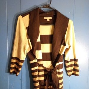 Tan and brown stripped cardigan
